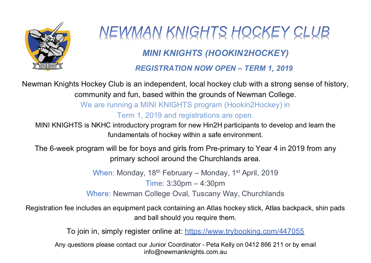 Newman Knights Hockey Club Information