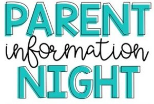 Pre Primary to Year 6 Parent Information Evening Details