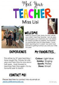 Meet Miss Jacky Lisi Our New Year 1 Teacher!