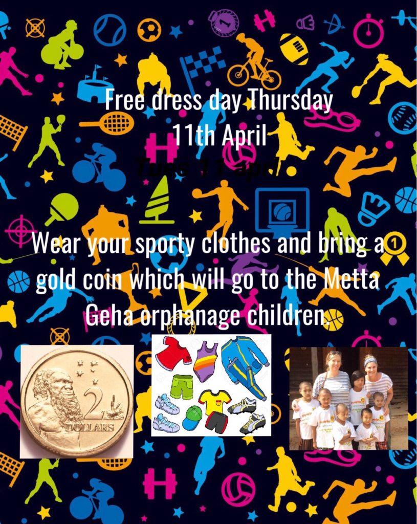 Free Dress Day Next Thursday - Sports Theme