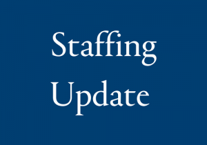 Term 2 Staffing Update