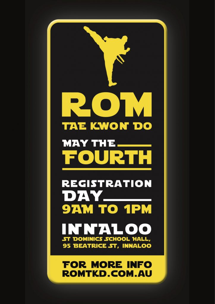 ROM Tae Kwon Do Registration Day