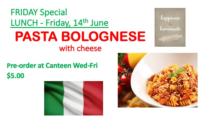 Canteen Special - Friday 14th June