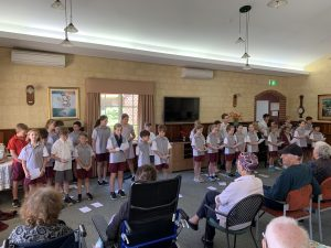 St Dominic's School Choir Aged Care Home Visit