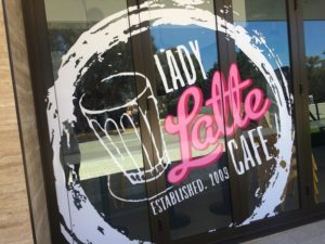 Lady Latte at St Dominic's School on Monday