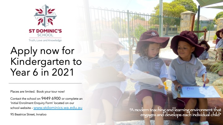 Don't Miss Out On a Place for Your Child in Kindy Next Year - Contact the Office by Wednesday, 29th July