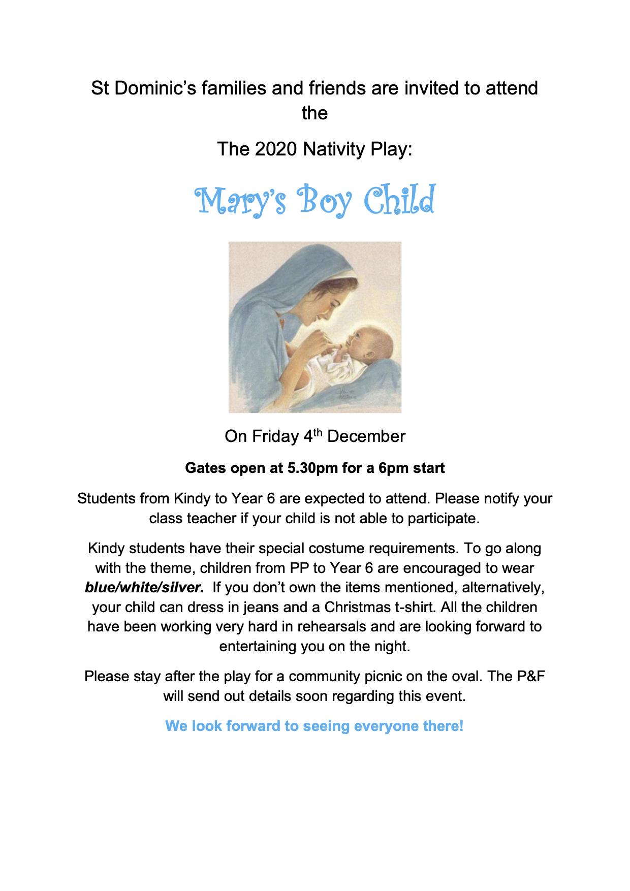 Important Nativity Play Information