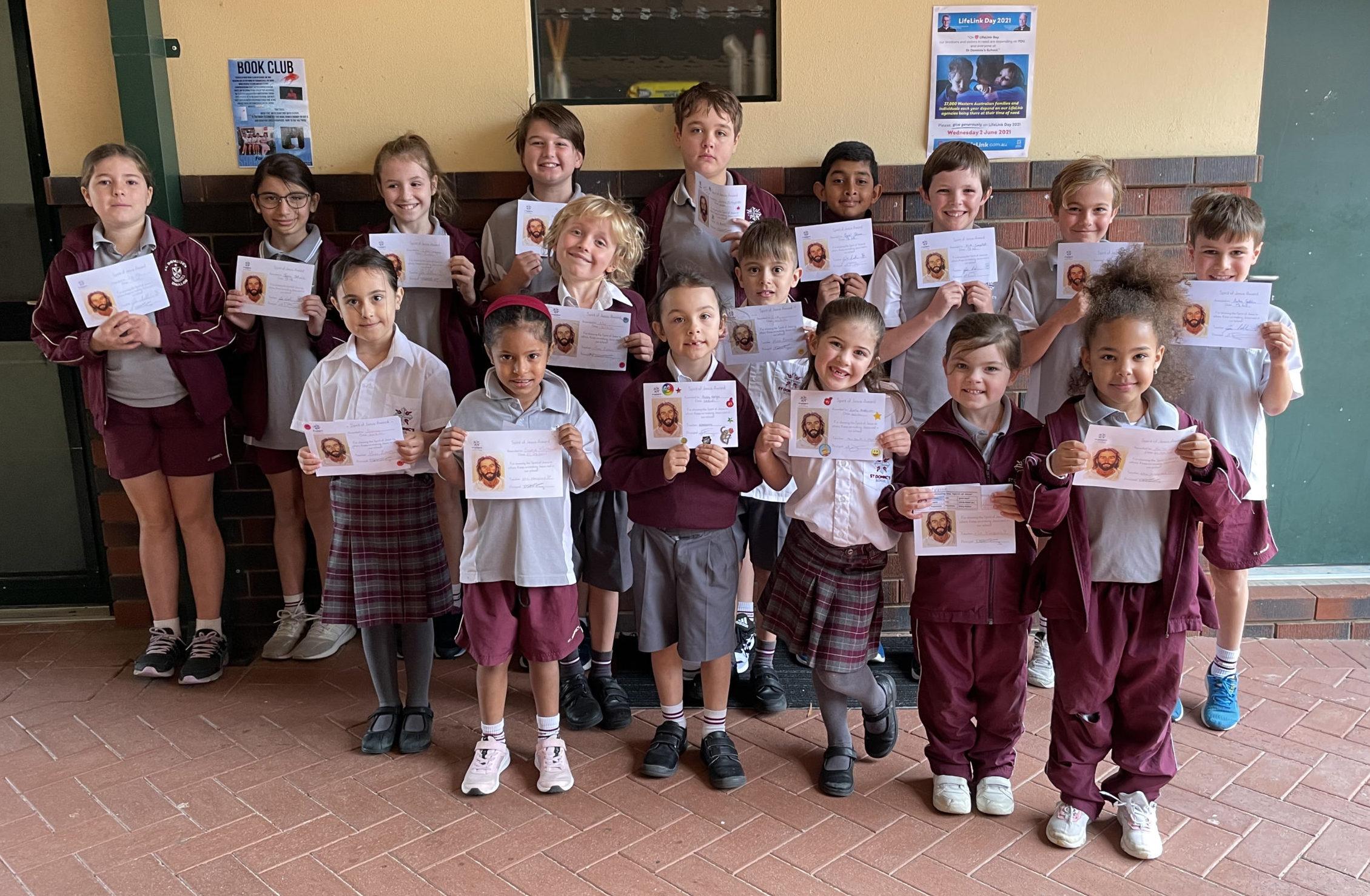 Making Jesus Real (MJR) at St Dominic's- Spirit of Jesus Award Winners Term 3 Week 7